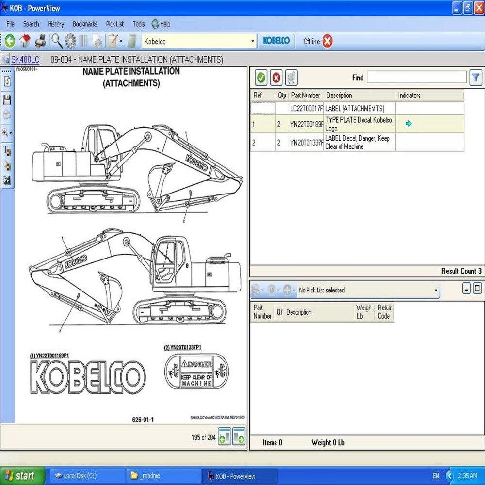 Kobelco Parts Catalog 2012<br><br>Aliexpress
