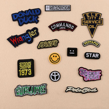 1 Pc Patches For Clothing Iron On Embroidered Appliques DIY Apparel Accessories Patches For Clothes Fabric Badges