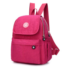 Waterproof Nylon Bag women backpack Fashion Women Bag Cloth Light travel shoulder bags student school bags(China)