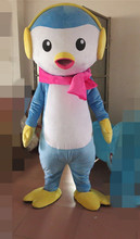 2015 Hot sale  blue penguin Mascot Costume Adult Fancy Dress Cartoon Outfit Suit Free shipping
