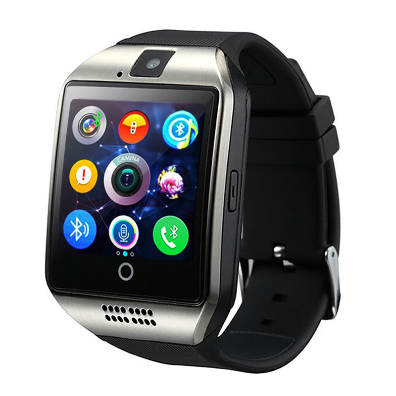 SmartWatch New Q18 Passometer Smart watch Touch Screen Camera TF card Bluetooth Smartwatch Android IOS Phone Men Watch