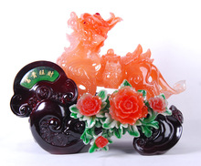 [ Cai ] factory direct resin rich imitation jade furniture decoration ornaments gifts , business gifts