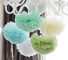 15cm=6 inch Tissue Paper Flowers paper pom poms balls lanterns  Party Decor Craft  Wedding  multi color option whcn+