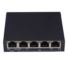 Professional 1+4 Port 10/100Mbps Mini PoE Switch Power over Ethernet IEEE802.3af 60W 48V PoE Switch for IP Cameras Wifi AP VoIP(China)