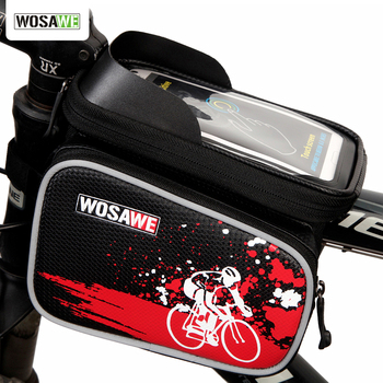 WOSAWE Bicycle Bag Frame Front Head Top Tube Bag Double IPouch Cycling Pannier For 6.0 inch Smartphone Touch Screen Bike Bag