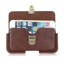 Slim Leather Waist Belt Pouch Phone Case Cover Bag Holster For Ukitel U20 Plus U15S / Highscreen Power Five Max(China)