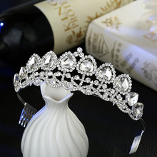 Crown crystal crystal wedding bride Korean comb comb hair show floor lady alloy factory direct