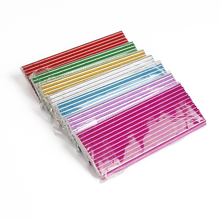 7 Colors 25pcs Eco-friendly Foil Paper Straws for Wedding Party Kids Birthday Party Decoration Supplies