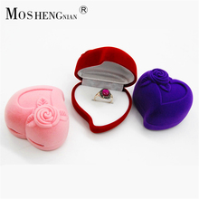 2017 Ring Box For Men/women Wedding Engagement Party Gift Fashion Rose Love Heart Jewelry Boxes Cajitas Regalo Hot Sale Ulove