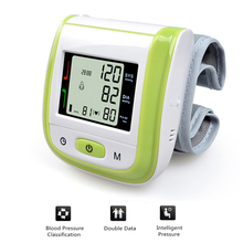 NEW!! Green LCD Automatic Wrist Blood Pressure Monitor Digital Wrist Blood Pressure Meter Tonometer Sphygmomanometer Tensiometro(China)