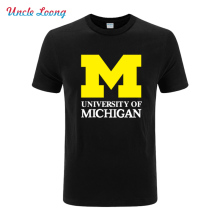 2016 new Michigan University American Letter printing jersey clothing fashion short sleeve t shirt tee top