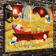 H2047 Donald Duck Uncle Scrooge Mcduck animal. HD impresión de lienzo decoración del hogar de la pared del dormitorio del sitio de la obra pintura