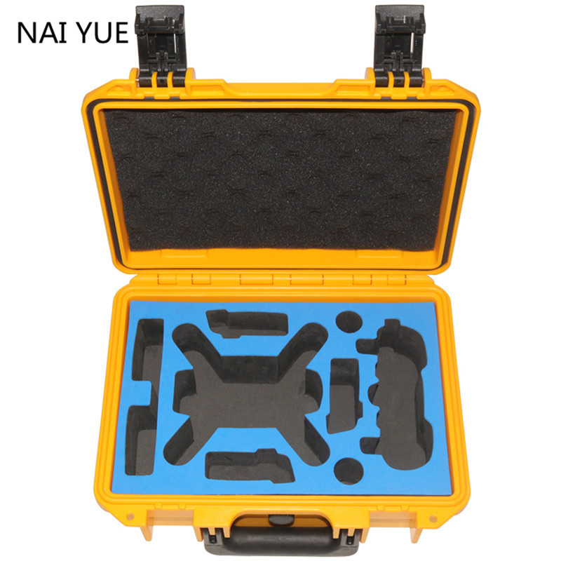 Nai Yue Waterproof Hardshell Backpack Case Bag RC Spare Parts Suitcase Box For DJI Spark(China (Mainland))