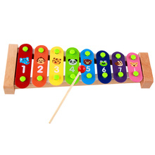 Free shipping 8 sound music model wooden toys, Kids music toys, children's early education instrument toy(China)