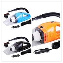 Black 120W Portable Car Vacuum Cleaner Wet And Dry Dual Use Auto Cigarette Lighter Hepa Filter 12V
