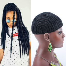 1pc/lot Cornrows Cap For Easier Sew In Braided Wig Caps Crotchet,Caps for Making Wig,Glueless Hair Net Liner Crochet Wig Caps(China)