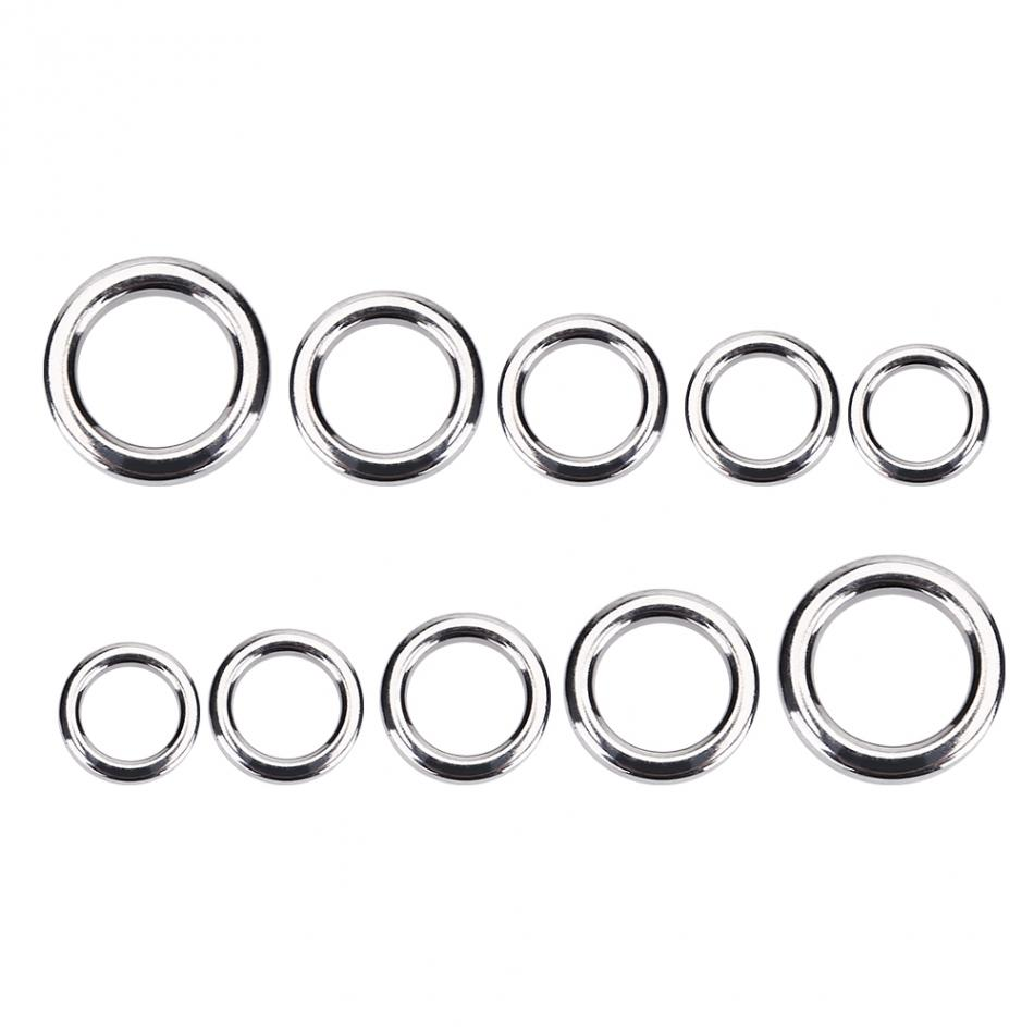 50pcs Stainless steel fishing split ring for blank lures circle loop connectorST