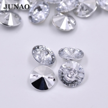 8mm 500pcs Clear White Color Rhinestones Buttons  Sewing Round Button Crystal Applique Strass Stones for Coats Clothes