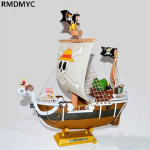 RMDMYC 10 Pcs/set One Piece Straw Hat Pirates 28cm Thousand Sunny Pirate Ship and Mini Luffy Zoro Nami  Sanji Action Figure Toy