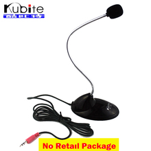 Kubite FE-350 Gooseneck Style Flexible Mini Desktop Studio Speech Microphone For Laptop PC Computer Conference Microphone