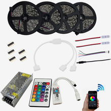 20m RGBW RGB WIFI Led Strip Waterproof 5050 IP65 tiras + Music Timmer Mode Remote Controller + 12V Power Adapter + Amplifier Kit(China)