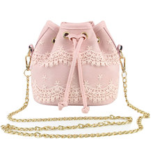 Luxury Handbags Women Bags Designer Clutch Women Messenger Bags Leather Bucket Shoulder Bag Lace Cross Body  Bolsa Feminina