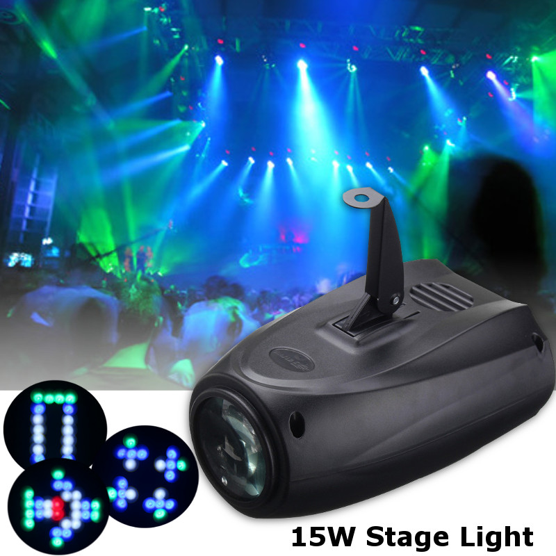 Smuxi Portable Music Auto/Sound Active RGBW Lights Laser Stage Effect Lighting Club Disco DJ Party Bar KTV Wedding Lights<br>