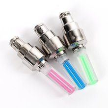2 pcs/set Bike Lights mountain Bicycle Car Wheel Tire Valve Cap Spoke Neon LED Lamp