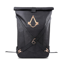 New Arrivals Assassins Creed Syndicate Logo Official Black Folded Backpack Bag Cosplay Knapsack Mochilas School Bag