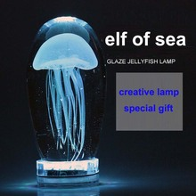 Sea elf LED desk lamp remote control color changing night high quality glaze table light luminaria(China)