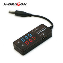 X-DRAGON Power Meter Tester Multimeter Current & Voltage Monitor, Test Speed of Chargers Power Banks Dual USB Digital.