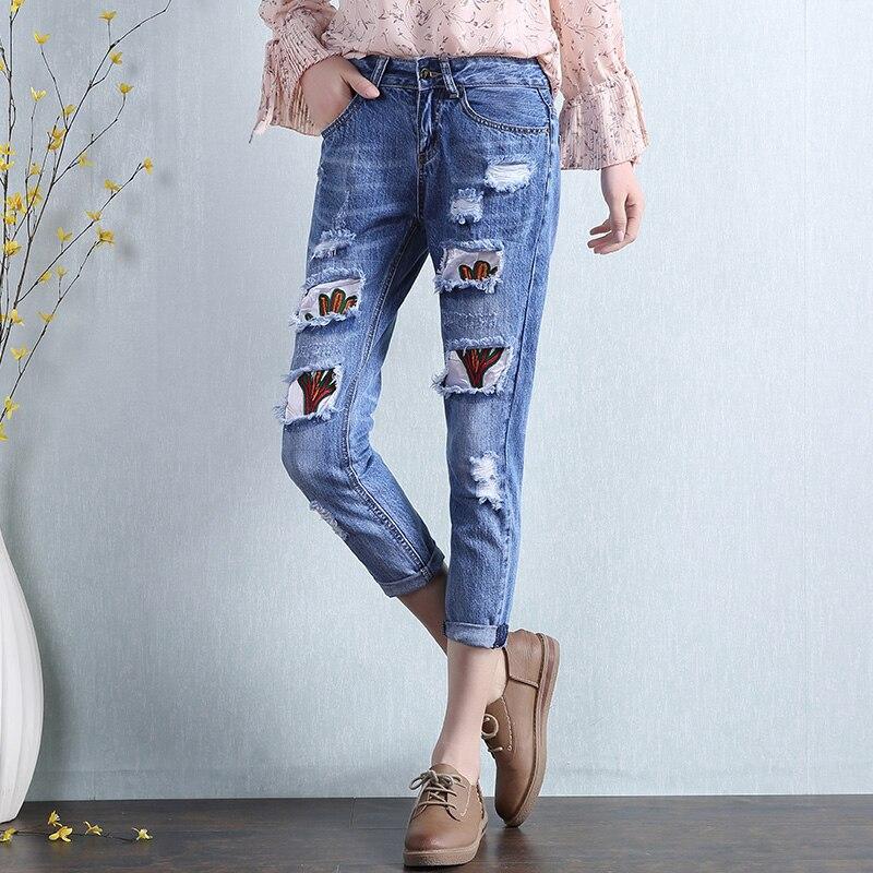 Oversized  Denim Pants Spring Women Ripped JeansОдежда и ак�е��уары<br><br><br>Aliexpress