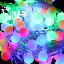 10PCS*9M 70pcs bulb Small Bell String Light Xmas Party Wedding Christmas LED Decoration 220V EU Plug LED String