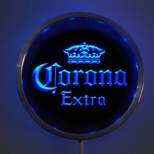 rs-a0013 Corona Extra Beer LED Neon Round Signs 25cm/ 10 Inch - Bar Sign with RGB Multi-Color Remote Wireless Control Function