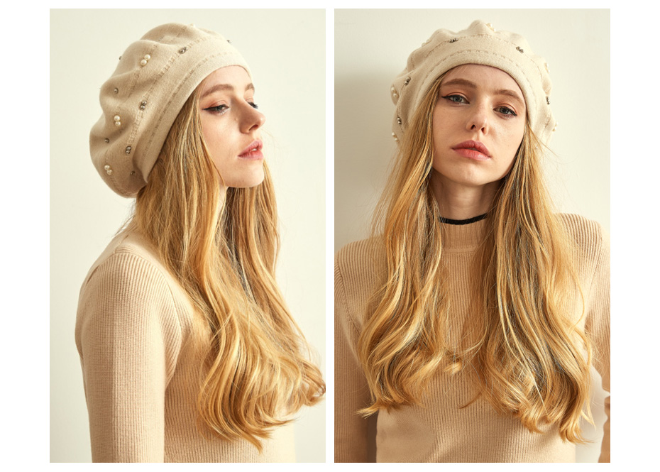 قبعة صوف محبوكة 17