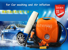 Household Self-service Portable Cleaner Car Washer 12V 60W Car Washing Machine for Car Washing and Air Inflation