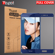 Thouport Tempered Glass For Huawei Honor 8 Lite Full Screen Protector Protective Film For Huawei P8 Lite 2017 Glass Color Frame(China)