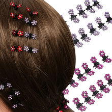 Buy 1 Set=12Pcs Girls Crystal Flower Mini Barrettes Hair Claw Clamp Hairpin High Hair Accessories Female Hairgrips Ornaments for $1.21 in AliExpress store