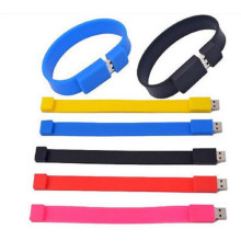 Custom Logo Wrist Band Model Silicone usb 2.0 Memory Flash Pen Drive 4GB 8GB 16GB 32GB  free logo (30pcs free logo)