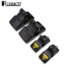 RUNBAZEF Black Plastic Mousetrap with High Strength and High Sensitive Large Simple Snap Type Strong Trap