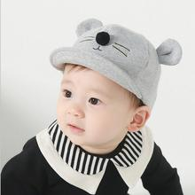 2017 new Cute Baby Cartoon Cat Hat Kids Baseball Cap Palm Newborn Infant Boy Girl Soft Cotton Caps Infant Sun Hat free shipping(China)