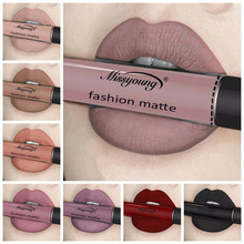 Sexy 12 Colors Long Lasting Waterproof Lipstick Ultra Matte Liquid Lipstick Lip Gloss Labial Liquid Cosmetics Lipgloss