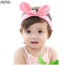 JRFSD New Cute Headbands Flower Bow Hair Bands Turban Rabbit Bowknot Headband Headwear HairBand kids hair Accessories