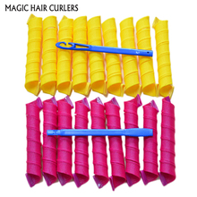 At Fashion magic hair curlers rollers spiral 18pcs/set 55cm long Hair Roller with Diameter 3cm curl diy hair curler tool styling