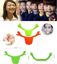 Smile Trainer Silicone Smile Brace Face Line Muscles Stretching Lifting Training Mouth Smile Maker Facial Messager Vibrator -43(China)
