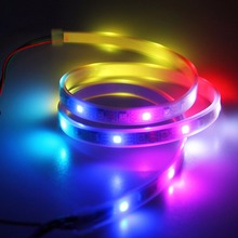 New Fashion Decoration Light strip High Light WS2812B 5050 RGB LED Strip 1M 60 Leds Individual Addressable 5V Waterproof(China)