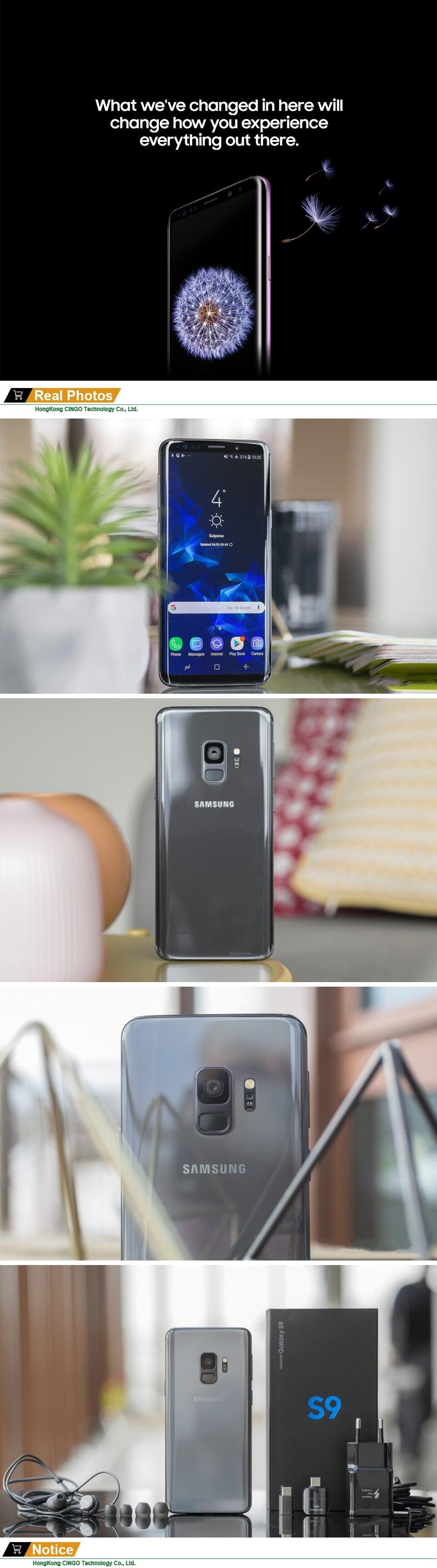 Original Samsung Galaxy S9 5.8″ Inch 4G LTE Dual Sim Mobile phone 18.5:9 screen 64GB 12MP 3000mAh Qualcomm Octa-core Smartphone