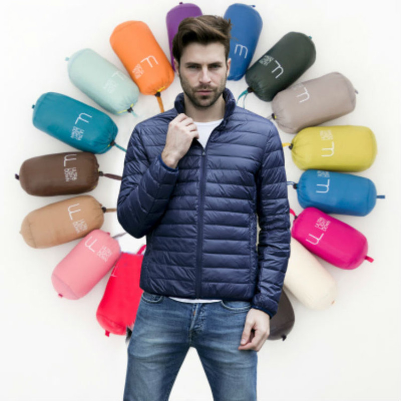 New Autumn and Winter 2019 Men's Boutique Duck Feather Fashion Stand Collar Leisure Down Jacket / Male Large Size Coats