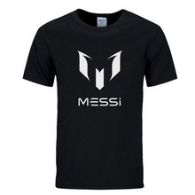 RUBU Men fashion brand tee Barcelona's Lionel mark MESSI Barcelona cotton round collar leisure T-shirt men with short sleeves