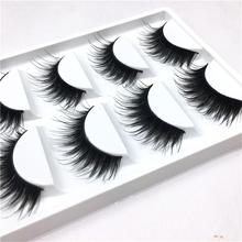 5 Pairs/set Elegant Women Ladies Makeup False Eyelashes Long Natural DIY Soft Black Party Flase Eye Lashes Extension